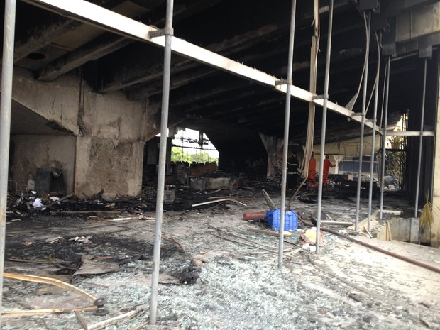 incêndio cab (Foto: Valma Silva/G1 Ba)