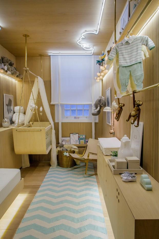 Leila Dionizio assina do espaço de ninar, espécie de quarto de bebê, para a Casa Cor 2016, na Gávea (Foto: Divulgação )