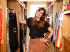 Carol Sampaio abre armário grifado e mostra mimos que ganhou de famosos