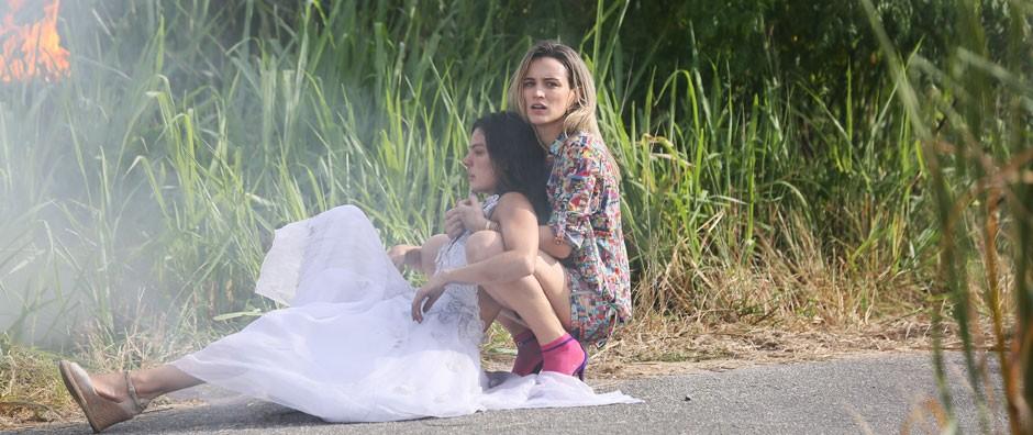 Vitória salva Sandra  após acidente de avião (Isabella Pinheiro/Gshow)