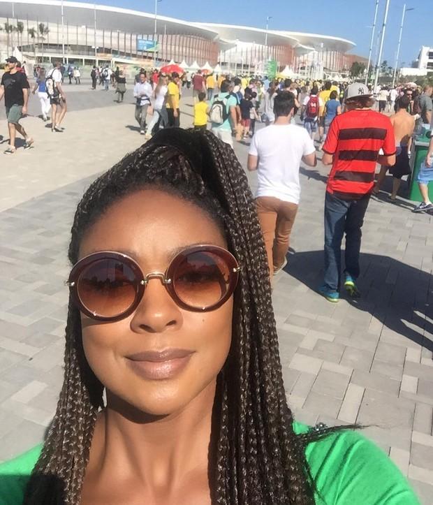 Cris Vianna no Parque Olímpico (Foto: Reprodução/Instagram)