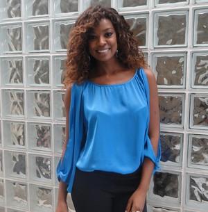 Cris Vianna não quer ser substituta de Luiza Brunet (Foto: Encontro com Fátima Bernardes/ TV Globo)