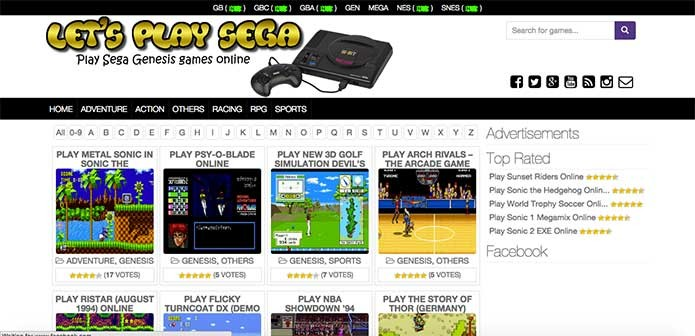 O Lets Play Sega te permite jogar games originais e hackeados (Foto: Reprodução/Felipe Vinha)