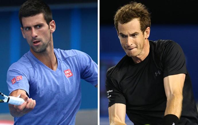 Montagem - Djokovic e Murry (Foto: Getty)