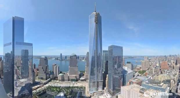 Video mostra avanços da contrução do One World Trade Center nos EUA (Foto: Reprodução/YouTube/earthcam)