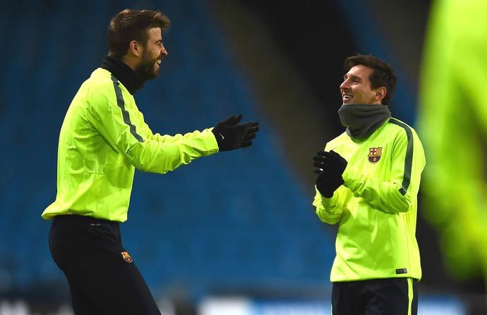 Piqué Messi Barcelona (Foto: Getty Images)