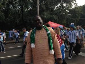Nigeriano Doyin Akinnurun sofreu tentativa de assalto em Porto Alegre (Foto: Luiza Carneiro/G1)