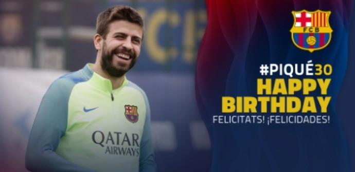 BLOG: #Piqué30: Barça usa rede social para desejar feliz aniversário ao zagueiro