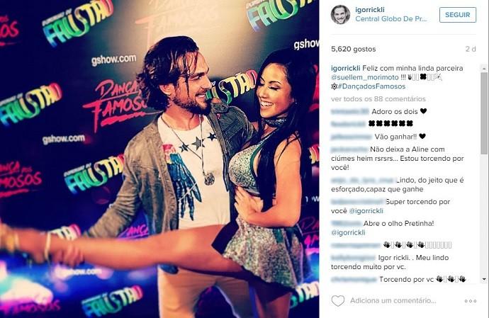 Nas redes sociais, Igor falou empolgado sobre a parceria com Suellem (Foto: Reprodução/Instagram)