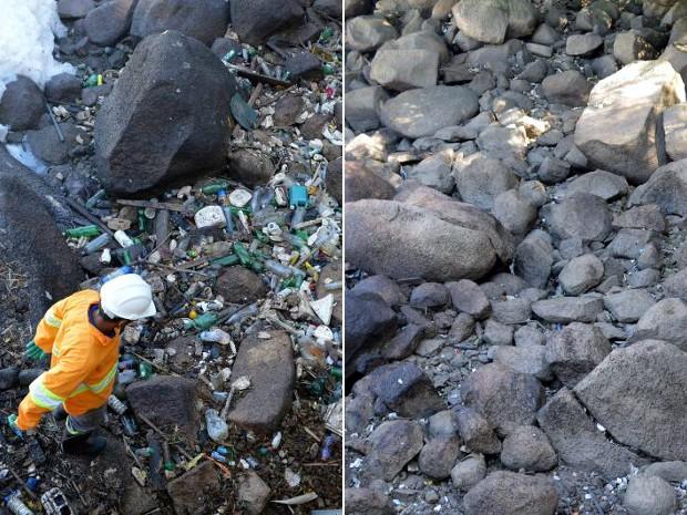 Foram recolhidas mais de 13 toneladas de lixo no rio Tietê (Foto: Divulgação/Secretaria de Meio Ambiente)