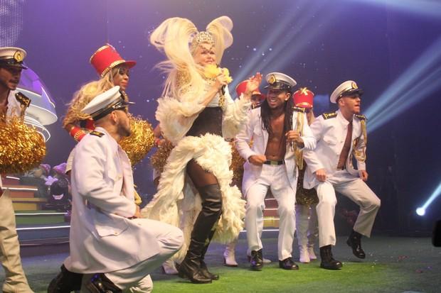 Xuxa se apresenta em festa no Rio (Foto: Wallace Barbosa / AgNews)
