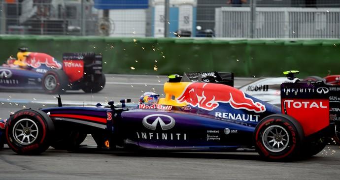 Daniel Ricciardo no GP da Alemanha, em Hockenheim, 2014 (Foto: AFP)