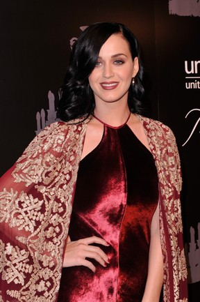 Katy Perry em evento da Unicef em Nova York, nos Estados Unidos (Foto: Stephen Lovekin/ Getty Images/ AFP)