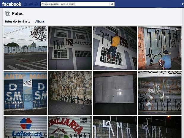 Vândalos fazem pichação e postam fotos nas redes sociais em Campinas (Foto: Reprodução / EPTV)