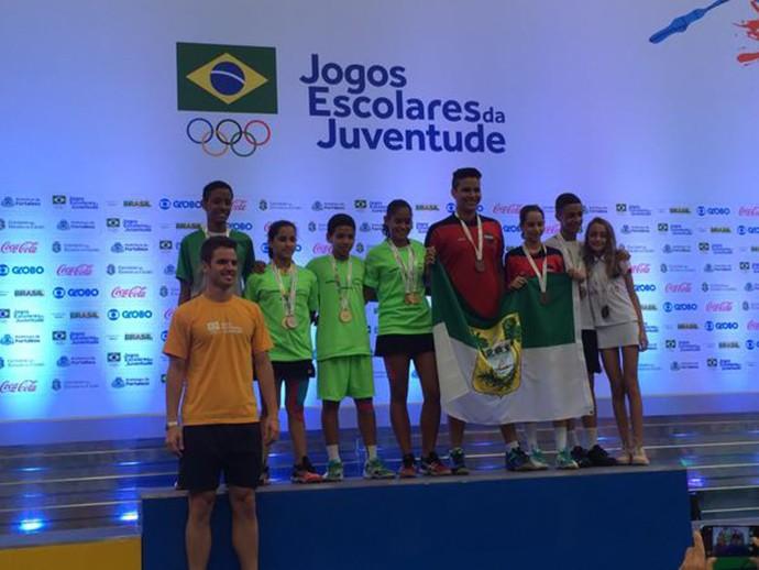 Jaqueline Lima badminton jogos escolares 2015 (Foto: Divulgação/Seduc)