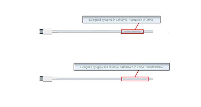 Cabos USB-C com problema não possuem número de série impresso (Foto: Reprodução/Apple)