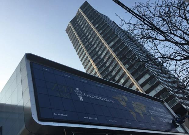 A fachada do novo campus da Cordon Bleu, perto da Torre Eiffel (Foto: Le Cordon Bleu International 2016)