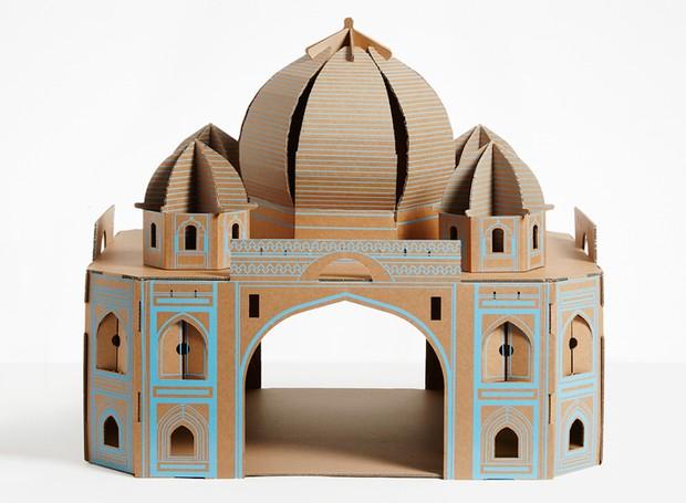 O Taj Mahal dos gatos mede 67 x 60 x 57 cm. O verdadeiro monumento está situado em Agra, na Índia, e é conhecido por ser uma homenagem ao amor (Foto: Divulgação)