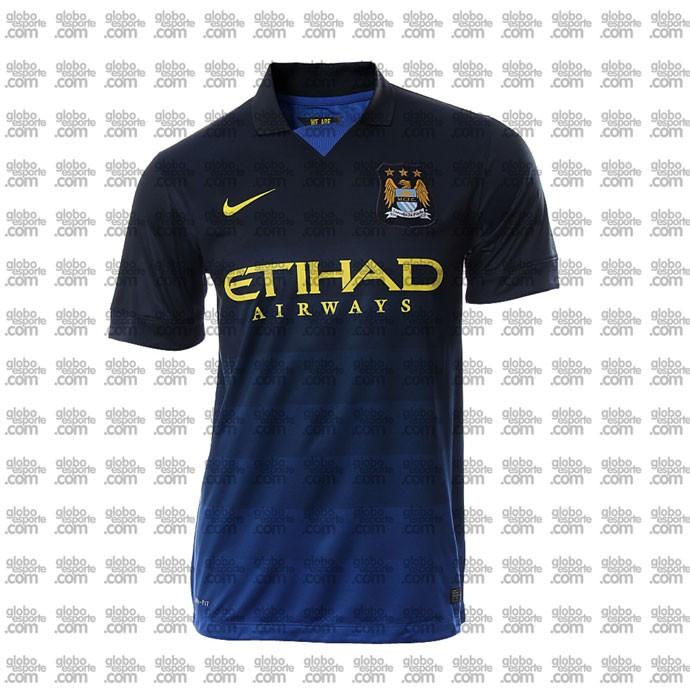 camisa Manchester City segundo uniforme
