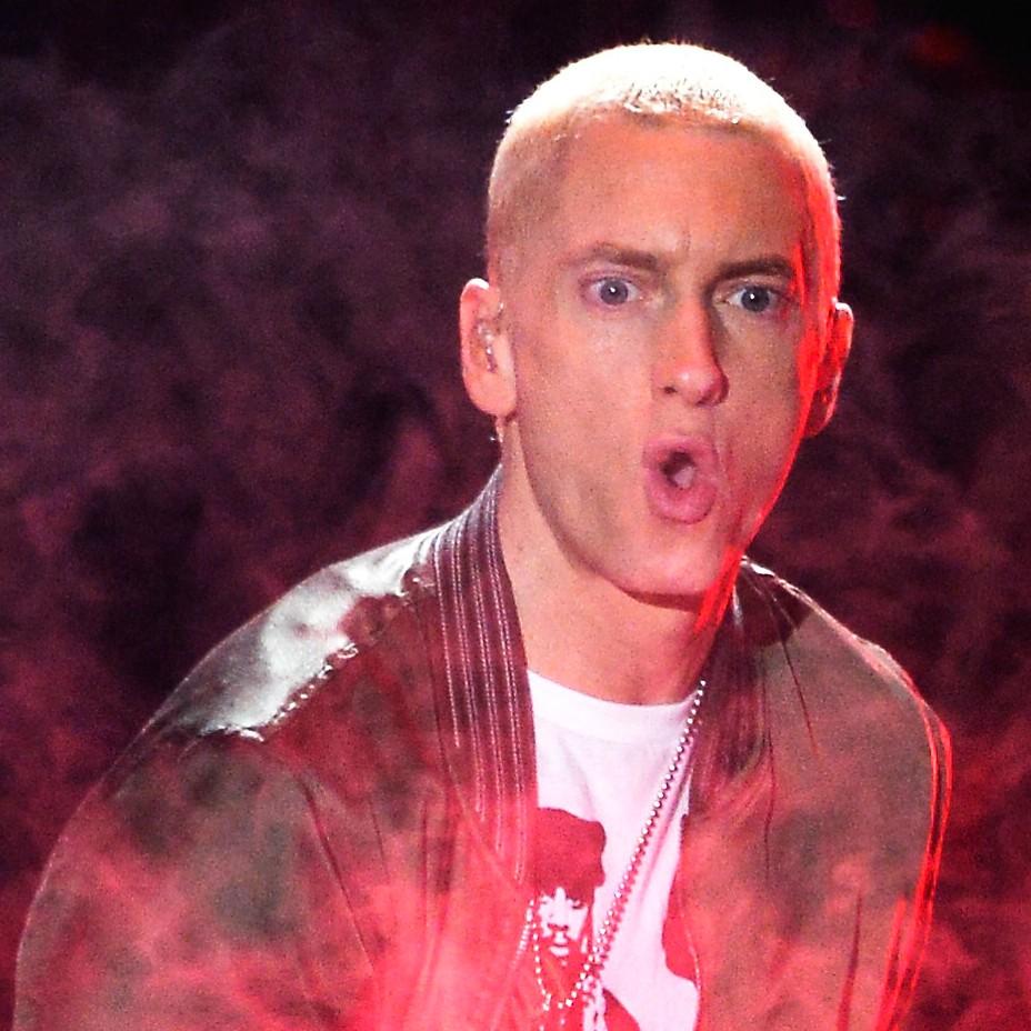 O rapper Eminem diz que quase morreu em 2007, por causa de uma overdose de metadona, uma droga derivada do ópio. (Foto: Getty Images)