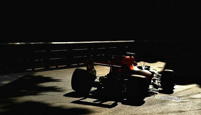 Daniel Ricciardo no treino classificatório para o GP do Azerbaijão