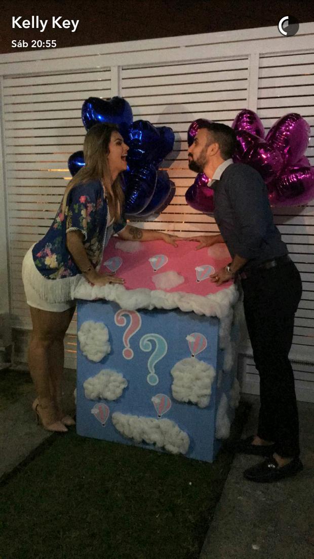 Kelly Key e Mico Freitas (Foto: Reprodução/Snapchat)