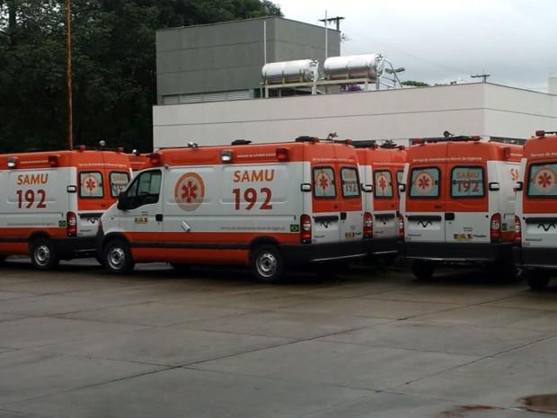 Em Varginha, 15 ambulâncias do Samu estão paradas sem uso. (Foto: Reprodução EPTV)
