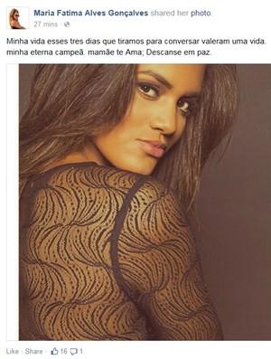Sarah Correa foi vítima de um atropelamento no Rio de Janeiro (Foto: Reprodução/Facebook)