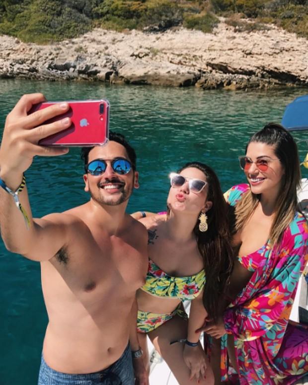 Estevam, Vivian Amorim, Maria Claudia (Foto: Reprodução)