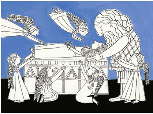"""Ilustração de Mariana Massarani para""""Inês"""", de Roger Mello (Foto: Arquivo)"""