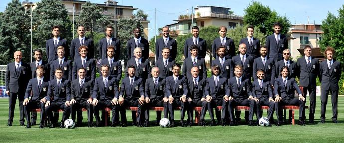 seleção da Itália posado foto oficial (Foto: Getty Images)