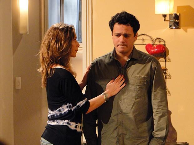 Fabiano ficou magoado com comportamento de Laura (Foto: Malhação / TV Globo)