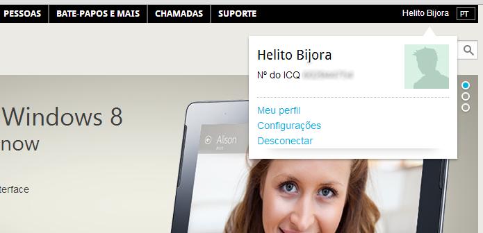 Acesse as configurações do ICQ (Foto: Reprodução/Helito Bijora)