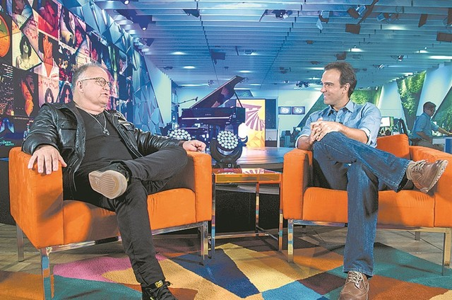 Guilherme Arantes e Tadeu Schmidt (Foto: Estevam Avellar/ TV Globo)