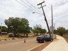 Universidade fica sem energia após carro derrubar poste em Palmas