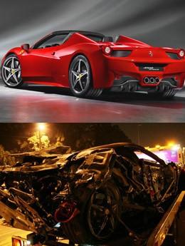 Ferrari antes e depois (Foto: Divulgação e Edison Temoteo/ Futura Press/ Estadão Conteúdo)