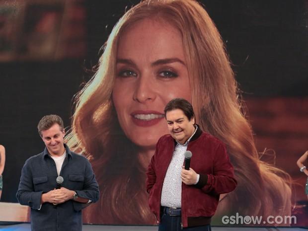 Angélica faz surpresa para Luciano (Foto: Felipe Monteiro/TV Globo)