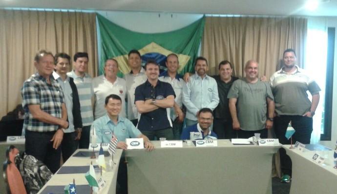 Assembleia geral da CBM que reelegeu Firmo Henrique Alves (Foto: Divulgação/CBM)
