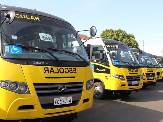 Cidades da região receberam 48 ônibus para o transporte escolar (Foto: Fabio Rodrigues/G1)