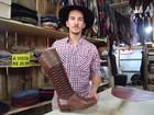 Bota artesanal tem costura que imita gaita e custa até R$ 1,5 mil no RS