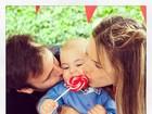 Alessandra Ambrósio comemora aniversário de um ano do filho Noah