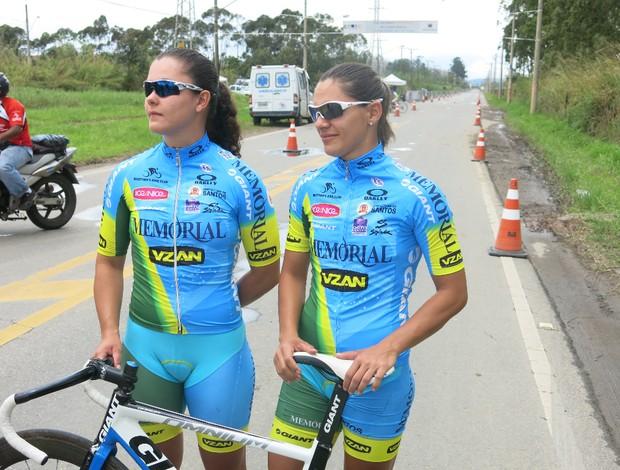 Thabata Sartorelli e Maira Hendi ciclismo Santos (Foto: Bruno Gutierrez)