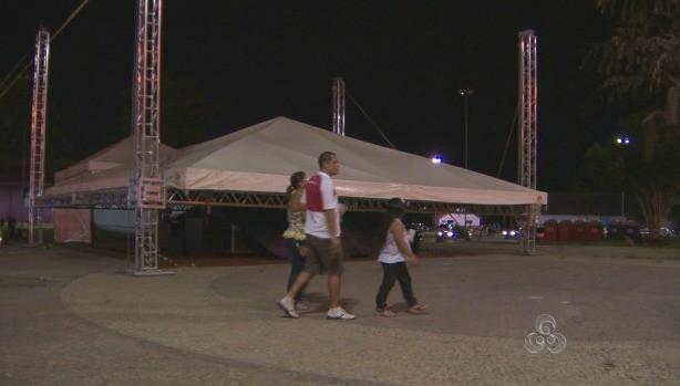 As apresentações na E.F.M.M. foram canceladas (Foto: Amazônia TV)