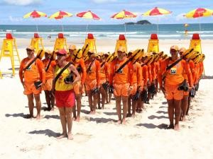 Guardas vão trabalhar na temporada de verão (Foto: Roberto Sander / Prefeitura de Guarujá)
