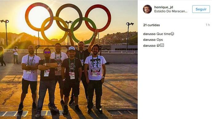 Grupo de amigos preparados para entrar no Maracanã (Foto: Reprodução / Instagram)