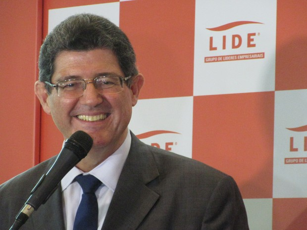 Ministro da Fazenda, Joaquim Levy, afirma ter 'enorme afinidade' com presidente Dilma (Foto: Darlan Alvarenga/G1)