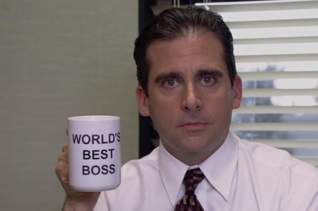 Steve Carrell como Michael Scott, em The Office (Foto: reprodução )