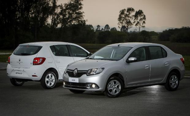 Renault Logan e Renault Sandero (Foto: Divulgação)