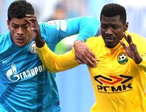 Hulk, do Zenit, em ação contra o Kuban (Foto: Divulgação)