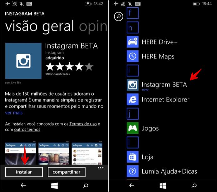 Instalando aplicativo no celular (Foto: Reprodução/Helito Bijora)